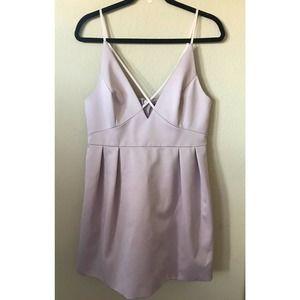 Topshop Strappy V Neck Pleated Sleeveless Dress